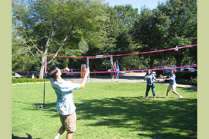 Badminton Game for team building