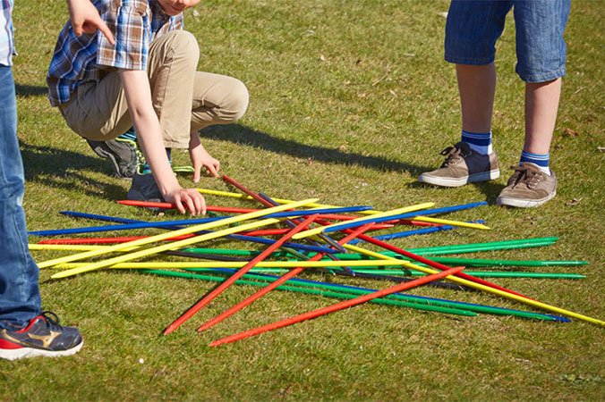 Giant Pick Up Sticks Game for team building