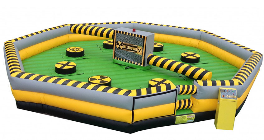 Meltdown Wipe Out Inflatable Game for team building