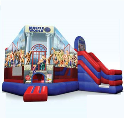 Muscle World Inflatable for team building
